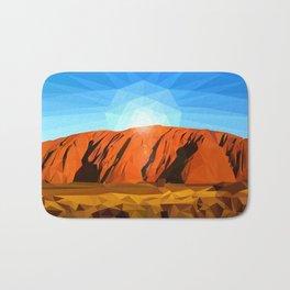 Uluru the Mighty Dreamer - Ayers Rock, Outback - Australia Bath Mat