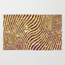 Warped glitter Rug