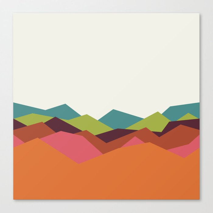 Chevron Mountain Canvas Print
