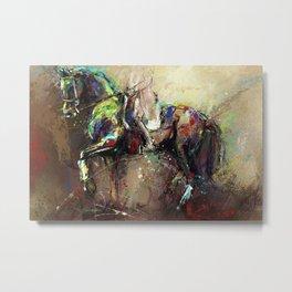 Horse Dancing. Metal Print