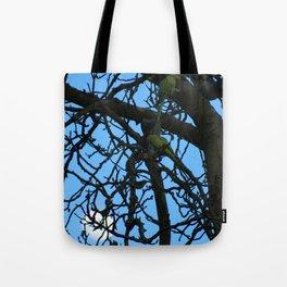 Moonlighting Parakeets Tote Bag
