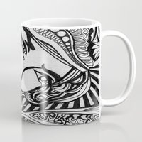 lichtenstein Mugs featuring Zentangle Lichtenstein by butterflyandbear