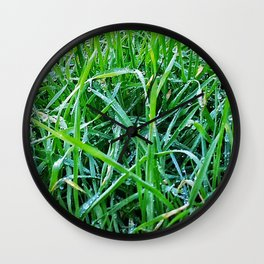 Dewy Grass Wall Clock