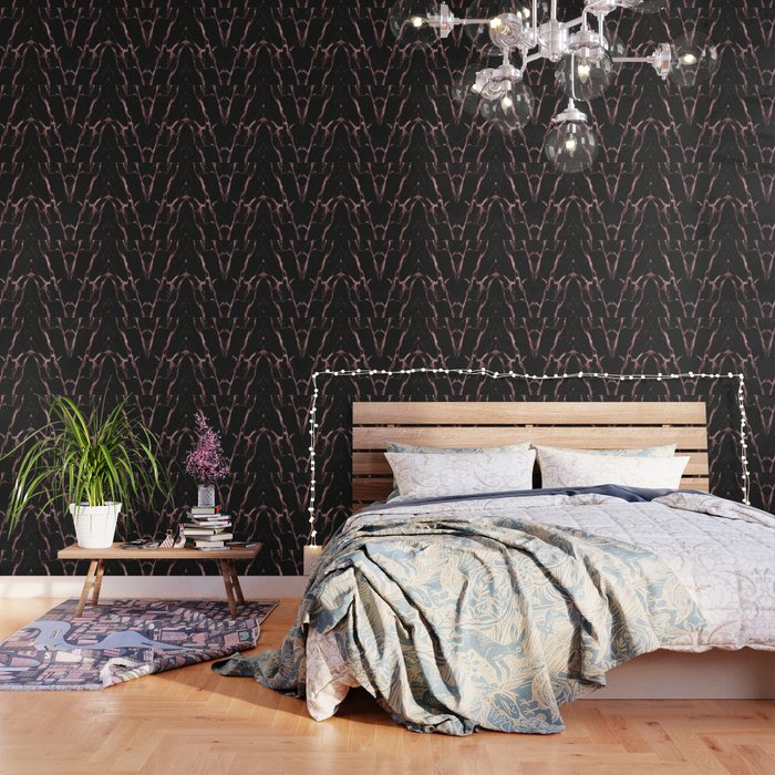 Rose Gold Black Marble Wallpaper By Creative Ministry