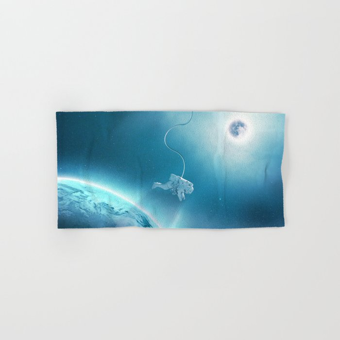 Astronaut Floating in Space Hand & Bath Towel