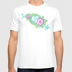 Om Sharpie Doodle White Mens Fitted Tee MEDIUM