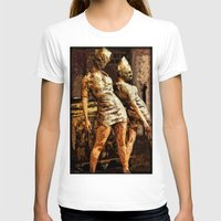 silent hill T-shirts featuring Deadly Duo Silent Hill Nurses by Joe Misrasi