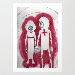 Opposites Attract Art Print