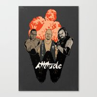 wrestling Canvas Prints featuring Attitude Wrestling  by RJ Artworks