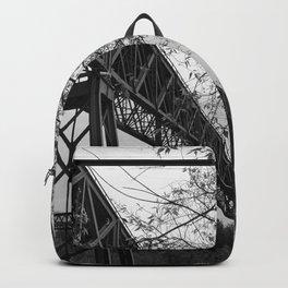 Eiffel. The mystery train bridge. BW Backpack