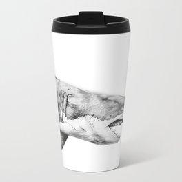 Great White Shark Metal Travel Mug