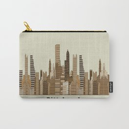 Pittsburgh skyline vintage Carry-All Pouch