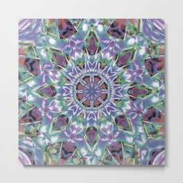 Abstract Flower AA YY QQ Metal Print