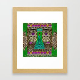 Lady Bear In the Jungle Framed Art Print