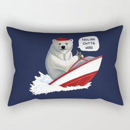 Sailing Outta Here Rectangular Pillow
