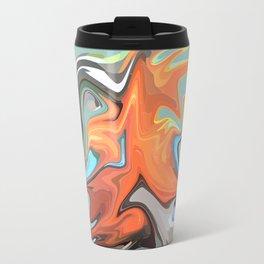 Abstract Waves 2 (Parrot) Travel Mug