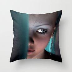 Fairy girl Face Throw Pillow