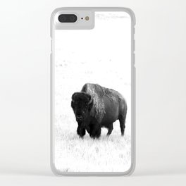 A Bison - Monochrome Clear iPhone Case