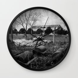 Rural House Wall Clock