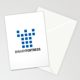 Binary Fortress Software (blue logo) Stationery Cards