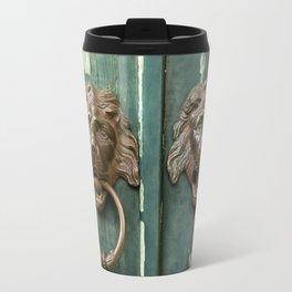 Lion heads of precious metal Travel Mug