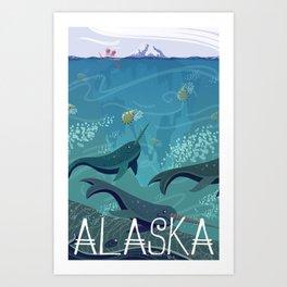 Alaska State Poster Art Print