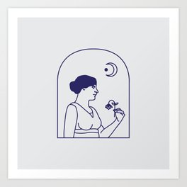 Ode to the Moon Art Print