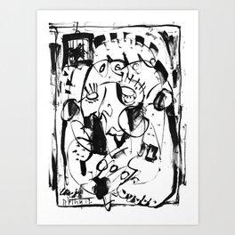 Caged Bird - b&w Art Print