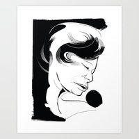 fitzgerald Art Prints featuring Ella Fitzgerald by breakfastjones