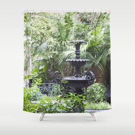 New Orleans Cafe Fountain Shower Curtain