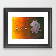 dot dot dot GHOST! Framed Art Print