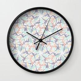 Dino Camo Wall Clock
