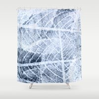 jack frost Shower Curtains featuring frost by clemm