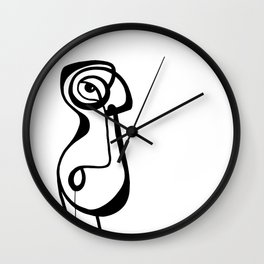 Drool by Jordan E. Eismont Wall Clock
