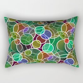 Psychedelic Circles Rectangular Pillow