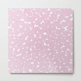 Pink diamonds / Lineart diamonds pattern Metal Print