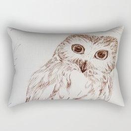 Northern Saw Whet Owl in Sepia Rectangular Pillow