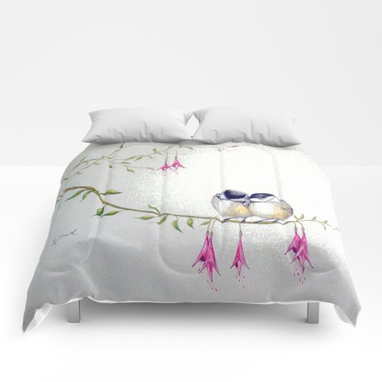 Two Chickadees Comforters