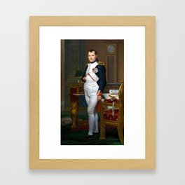 Jacques-Louis David The Emperor Napoleon in His Study at the Tuileries Framed Art Print
