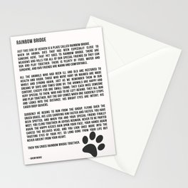 Rainbow Bridge Poem #inspirational #pet #love Stationery Cards