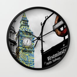 Funky Landmark - London Wall Clock