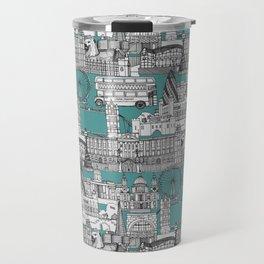 London toile blue Travel Mug