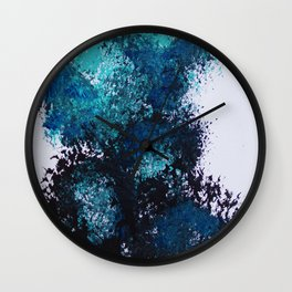 Blue Broom Balloons Wall Clock