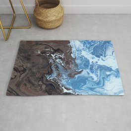 Surfing Surfer Abstract Art Waves Rug