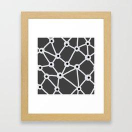 Trails on grey Framed Art Print