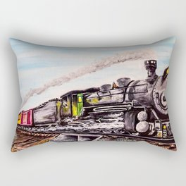 Arid Crossing Rectangular Pillow