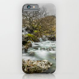 Lone Tree On The River iPhone Case