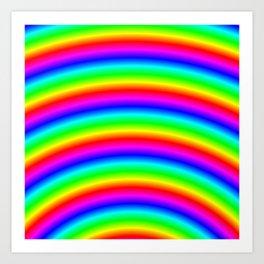 Bright Neon Psychedelic Rainbow Art Print