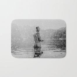 Alpine Snow Lake Nude Bath Mat