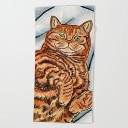 Ginger Cat Beach Towel
